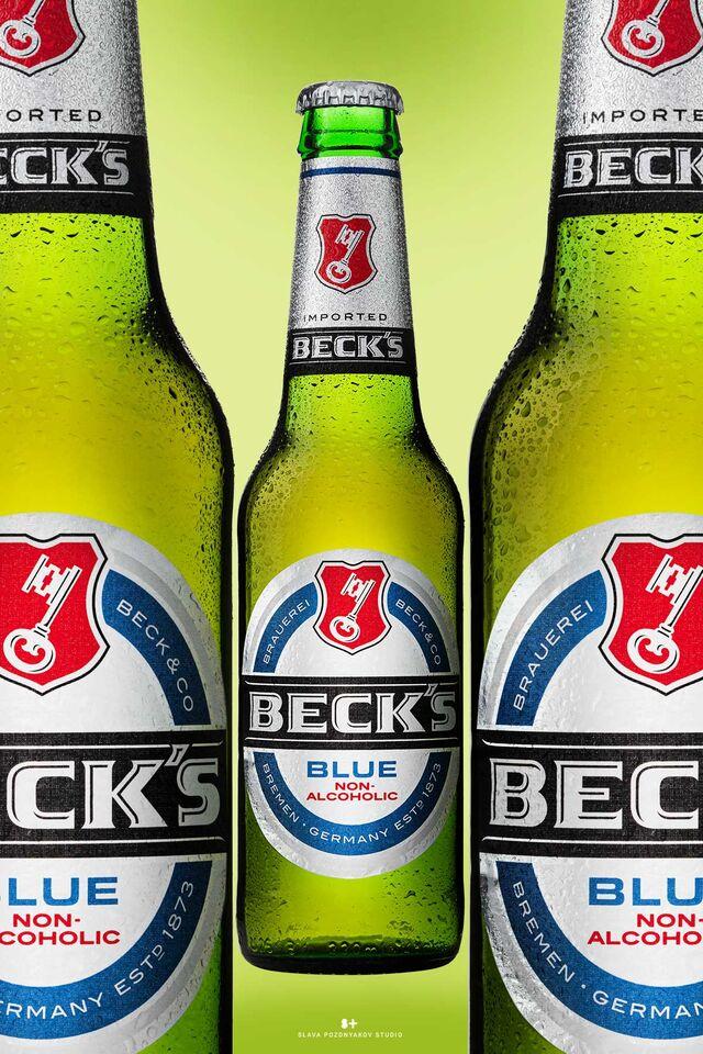 Фотосъемка алкогольных, безалкогольных напитков. Фотосъемка пива BECK Фуд-стайлинг, постановка света, фотосъемка пива. Фотограф Слава Поздняков.