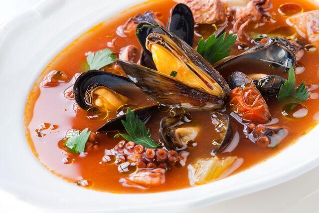 Фотосъемка блюд с морепродуктами в ресторане Bocconcino. Фуд-стилист и фотограф Слава Поздняков