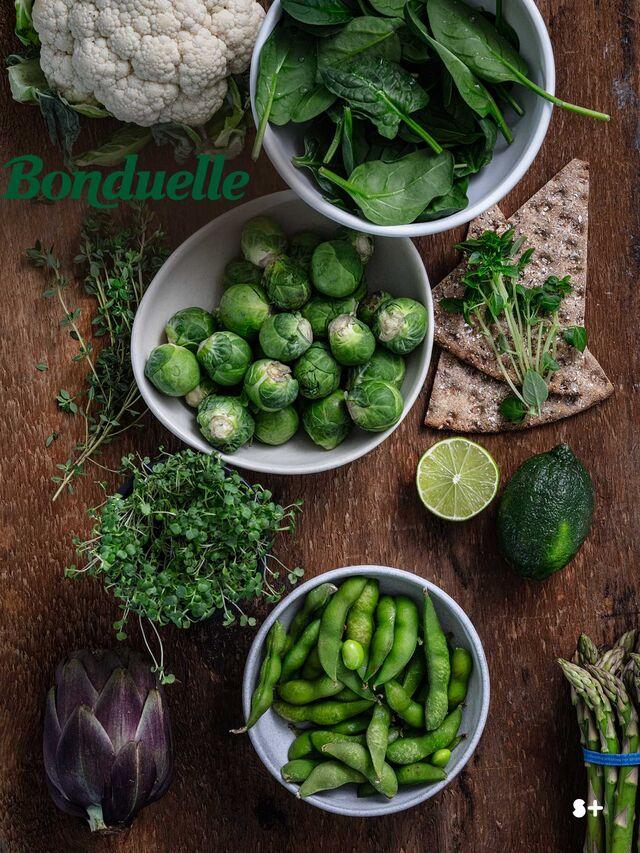 Проект Bonduelle. Фуд-стайлинг, компоновка, фотосъемка композиций. Фотосъемка зеленых овощей. Фуд-стилист, фотограф Слава Поздняков.