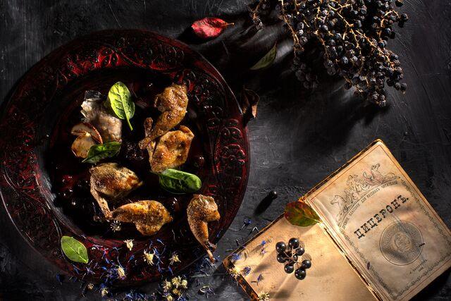 Фотосъемка блюд из птицы для Сезона Охоты. Фуд-стилист Слава Поздняков