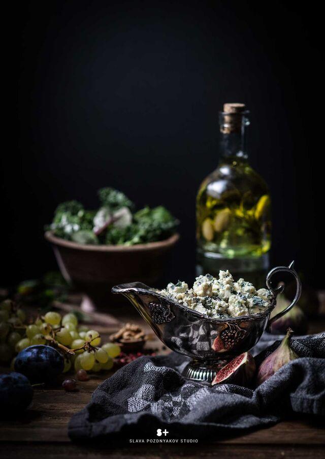 Проект Cheese Gallery. Фотосъемка композиции сыра BLUE CHEESE. Фуд-стилист, фуд-фотограф Слава Поздняков.