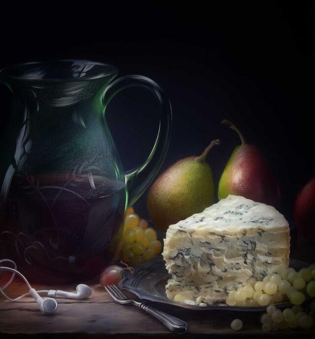 Проект Cheese Gallery. Фотосъемка композиции сыра. Фуд-стилист, фуд-фотограф Слава Поздняков.