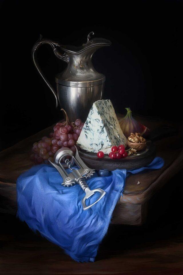 Проект Cheese Gallery. Фотосъемка сыра SANTA BLEU. Композиция сыра для Cheese Gallery. Фуд-стилист, фуд-фотограф Слава Поздняков.