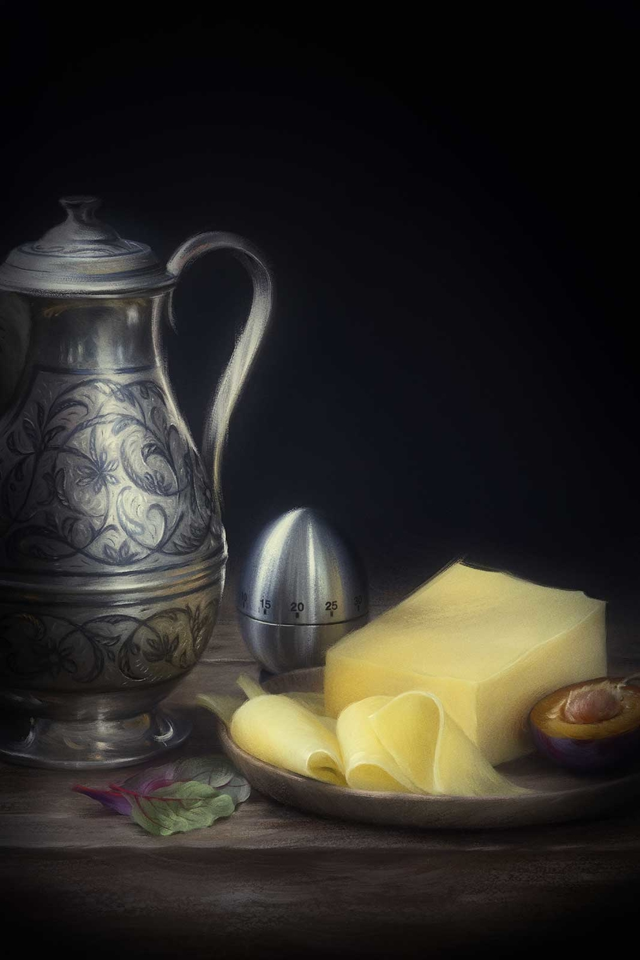 Проект Cheese Gallery. Фотосъемка композиции сыра CHEDAR. Фуд-стилист, фотограф Слава Поздняков.