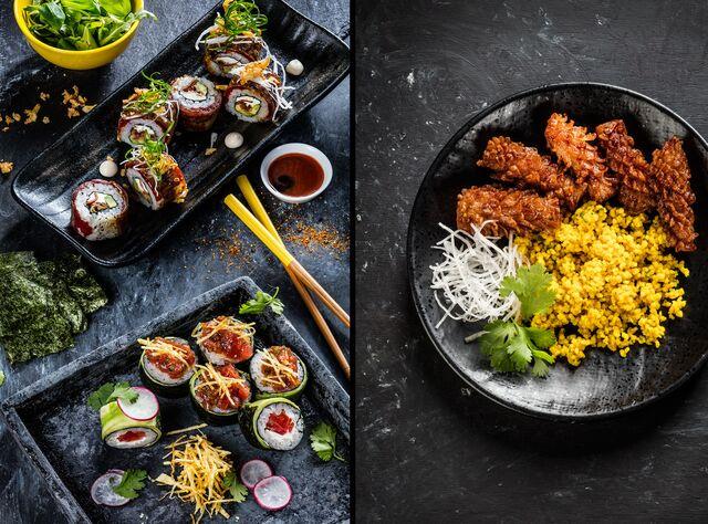 Фотосъемка блюд, роллов. Японское кафе Ваби Саби. Фотограф и фуд-стилист Слава Поздняков
