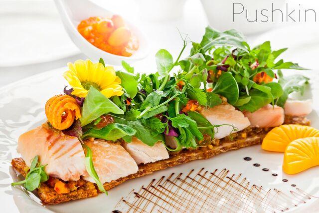Фотосъемка блюд для меню ресторана Пушкин