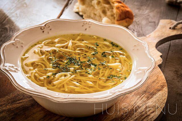 Фотосъемка супа для меню ресторана Huis