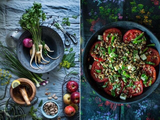 Фотосъемка блюд, продуктов для журнала Хлеб Соль. Фуд-фотограф и фуд-стилист Слава Поздняков