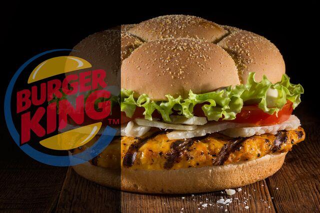 Фотосъемка  бургера с булочкой футбольный мяч для Burger King