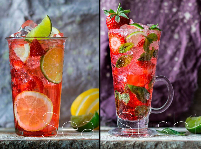 Фотосъемка напитков для ресторана Суши Морей. Food stylist Slava Pozdnyakov