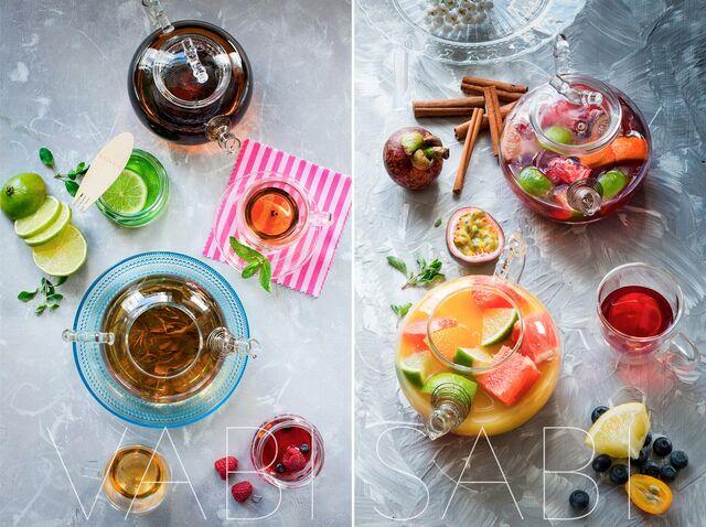 Постановочная фотосъемка чая для ресторана Ваби-Саби. Food stylist Slava Pozdnyakov