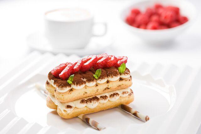 Фотосъемка десерта для меню ресторана Дилижанс