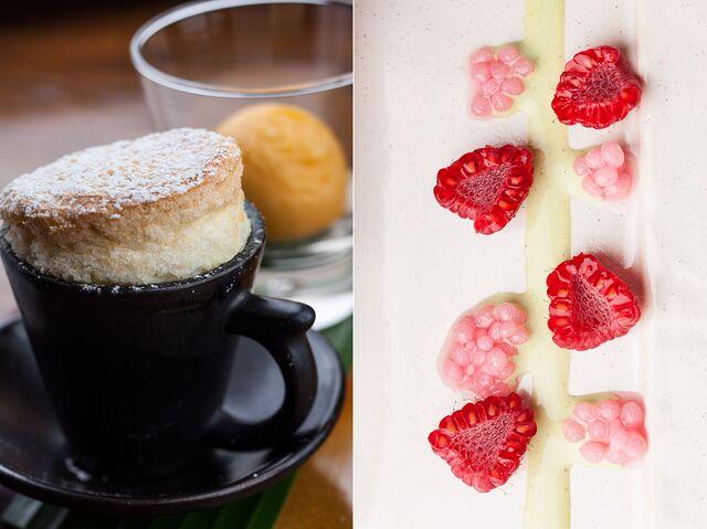 Фотосъемка десерта, композиции напитков для меню ресторана
