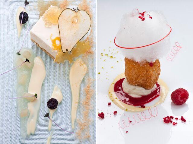 Фотосъемка десерта для меню ресторана Сыр