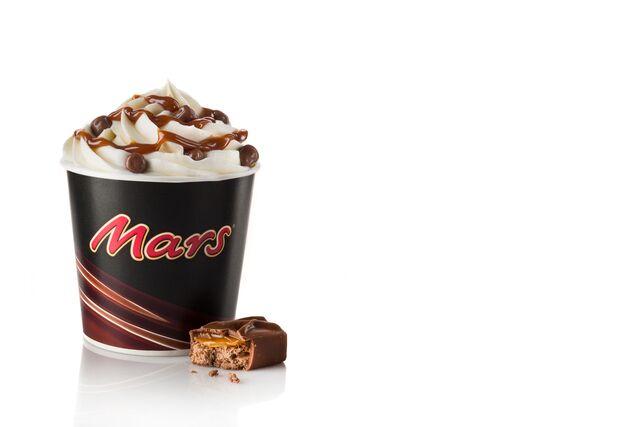 Рекламная фотосъемка мороженого Mars для BurgerKing