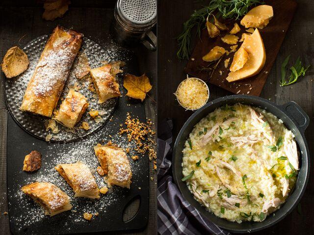 Приготовление по рецептам Юлии Высоцкой, фуд-стайлинг, фотосъемка для журнала Хлеб Соль