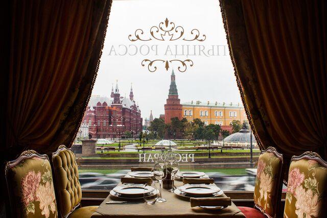 Фотосъемка интерьера ресторана Националь с видом на Красную площадь