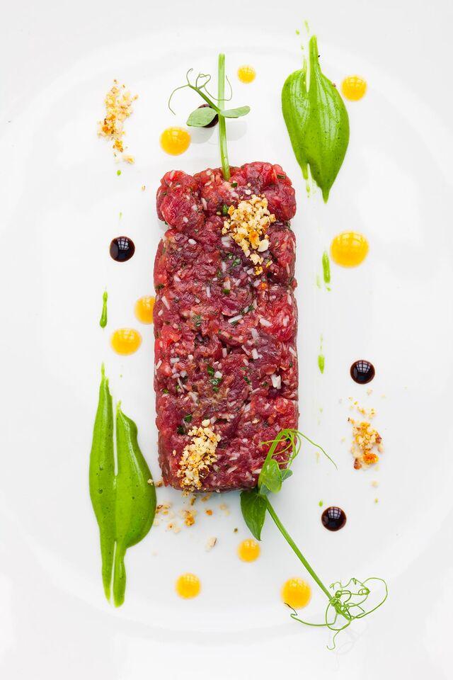 Фотосъемка блюд карпаччо для ресторана Grand Cru Bar
