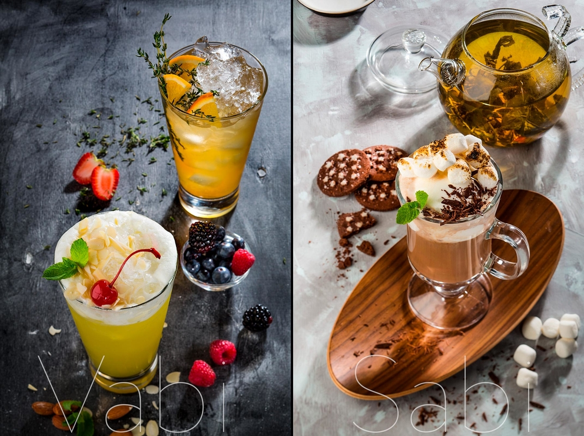 Рекламная фотосъемка коктейлей, напитков для ресторана Ваби-Саби