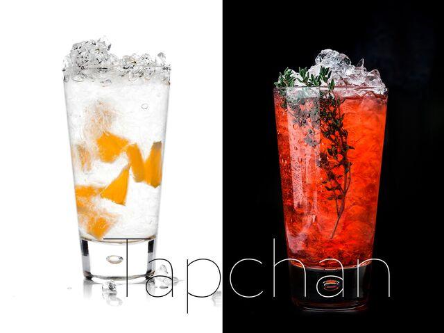 Фотосъемка напитков со льдом для ресторана ТАПЧАН