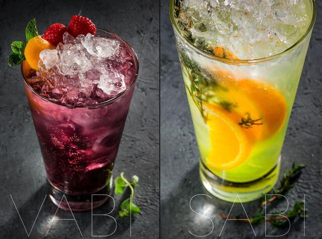Фотосъемка коктейлей для ресторана Ваби-Саби