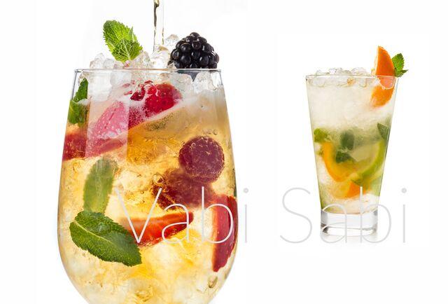 Фотосъемка фруктовых коктейлей для ресторана Ваби-Саби