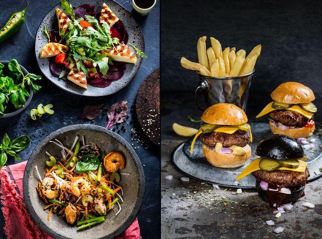 Фотосъемка бургеров для меню ресторана «Ваби Саби». Фуд-стилист и фотограф Слава Поздняков | Slava Pozdnyakov
