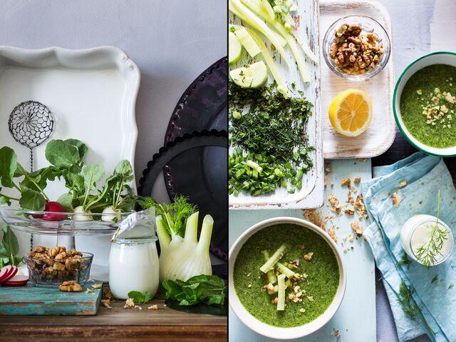 Постановочная фотосъемка блюд, продуктов для кулинарного журнала Ю. Высоцкой «ХлебСоль»