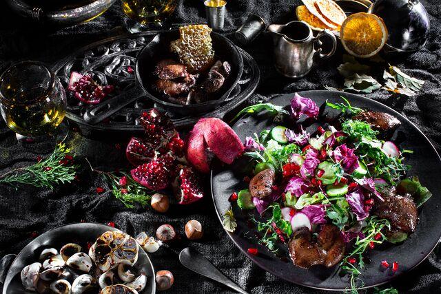 Разработка стилистики, Фотосъемка композиций для Food Hunter Magazine. Фуд-стилист Слава Поздняков