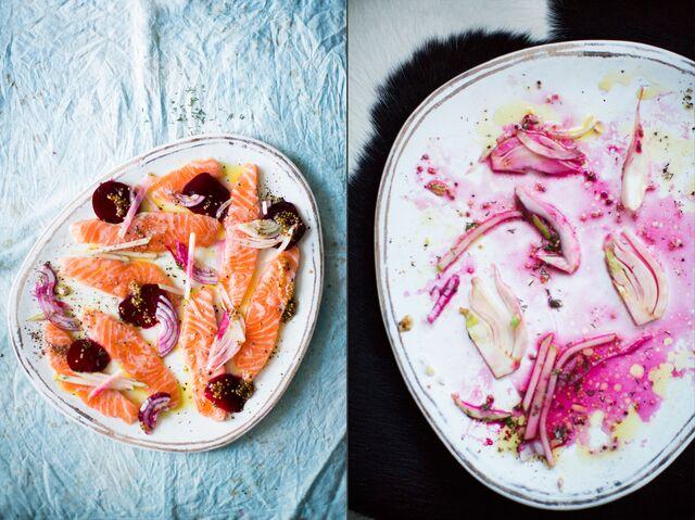 Приготовление блюд, фотосъемка лосося с мастер-классом для журнала «ХлебСоль»