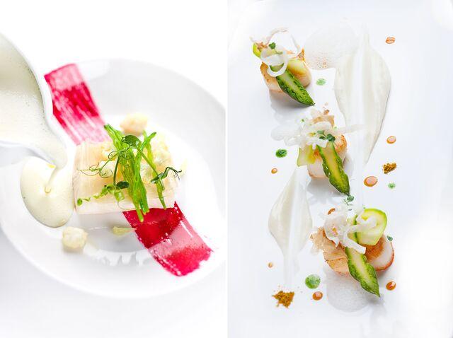 Фотосъемка морепродуктов на белом фоне для ресторана