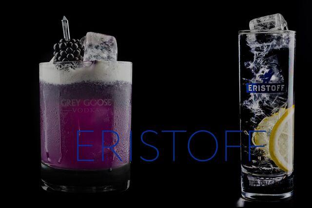 Рекламная фотосъемка напитков ERISTOFF. Рекламная фуд фотография