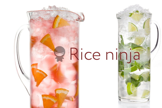 Фотосъемка напитков в кувшинах для ресторана Рисовый Ниндзя