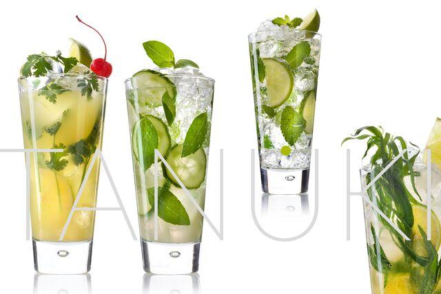 Фотосъемка напитков со льдом для ресторана Тануки