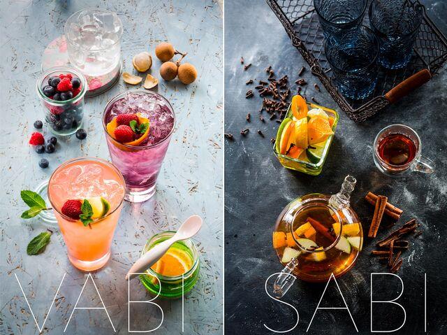 Рекламная фотосъемка напитков для ресторана Ваби-Саби