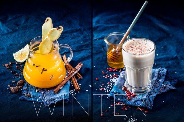 Фотосъемка коктейлей для зимнего меню