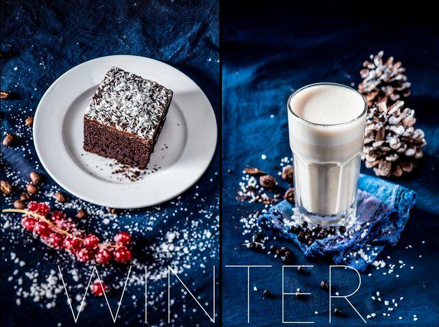 Фотосъемка напитков для зимнего меню ресторана