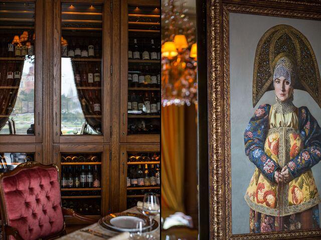 Фотосъемка деталей оформления зала ресторана «Пьяцца Росса» в гостинице «Националь»
