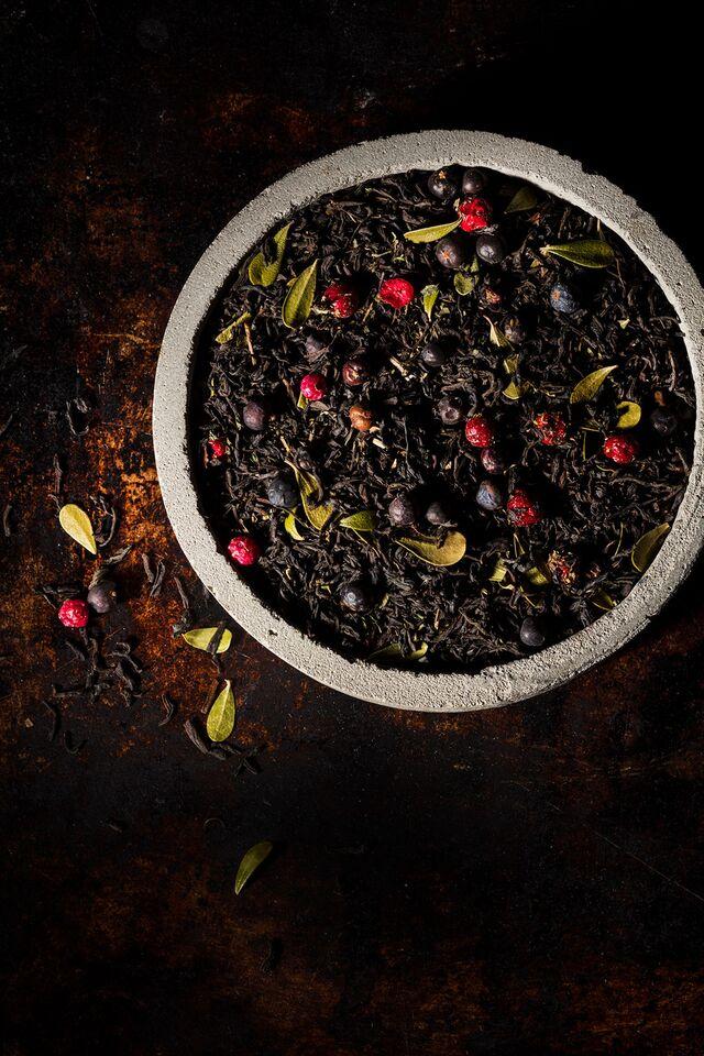 Рекламная фотосъемка рассыпного чая, фотосъемка чая для чайной компании «Tea Co»