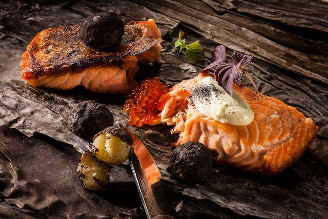 Фотосъемка блюд из рыбы для ресторана Чайка. Фуд фотограф Слава Поздняков | Slava Pozdnyakov