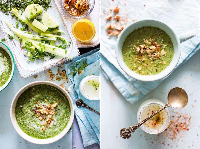 Приготовление, фотосъемка супа для журнала. Food стилист Слава Поздняков