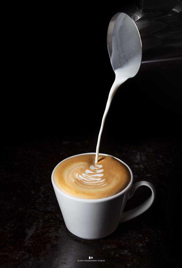Фотосъемка кофе капучино. Фотосъемка напитков. Фуд-стилист, фотограф Слава Поздняков.