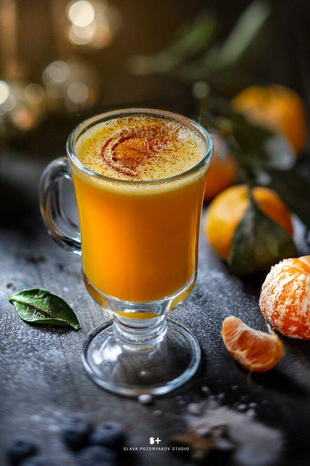 Фотосъемка чая с мандарином и пряностями. Фотосъемка напитков. Фуд-стилист, фуд-фотограф Слава Поздняков.