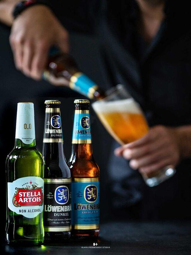 Фотосъемка алкогольных, безалкогольных напитков. Фотосъемка пива. Фуд-стайлинг, постановка света, фотосъемка пива. Фотограф Слава Поздняков.