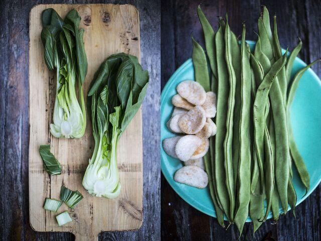 Фотосъемка постановочной композиции овощей для журнала Хлеб Соль