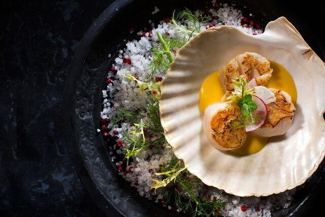 Фотосъемка гребешков с солью для ресторана Метрополь. Фуд-стилист и фотограф Слава Поздняков