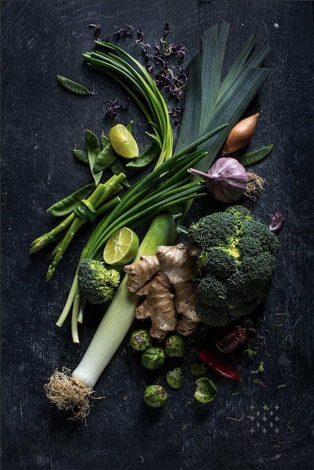 Фотосъемка композиции из овощей. Фуд-стилист, фотограф Слава Поздняков.