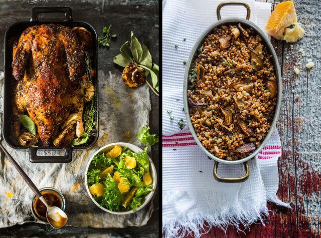 Приготовление, фотосъемка блюд для книги. Гусь с гречкой. Фуд-стилист и фотограф Слава Поздняков