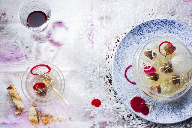Холодец - Фотосъемка рождественского меню для ресторана. Food Hunter Magazine. Фуд-стилист и фотограф Слава Поздняков