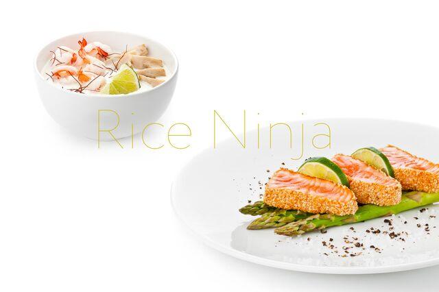 Фотосъемка кокосового супа и блюда с тунцом для ресторана Рисовый Ниндзя